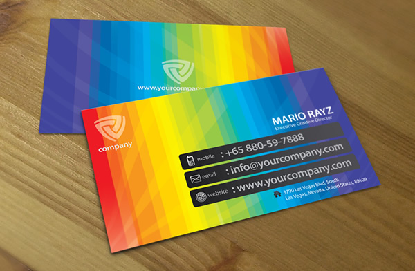 Band of Colors Creative Business Card