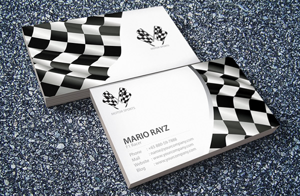 Formula one Business card