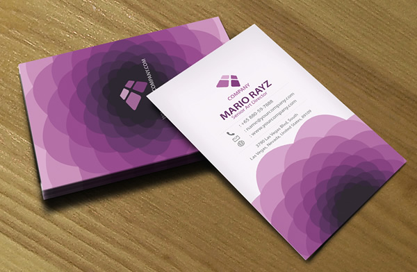 Purple Flora Creative Business Card