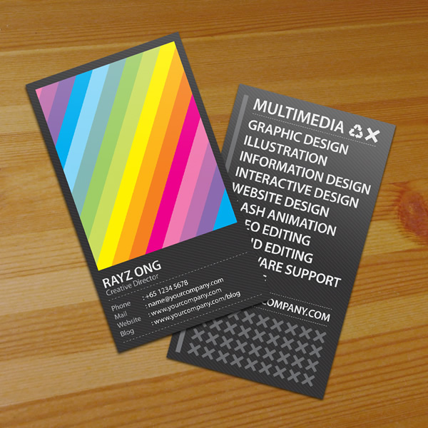 Rainbow Design Business Card