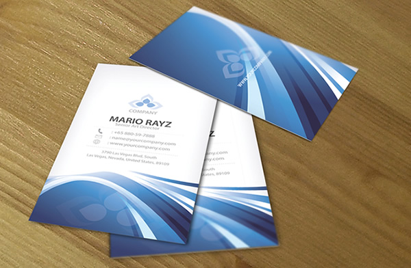 Striking Wave Corporate Business Card