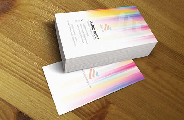 Pixel gradient creative business card